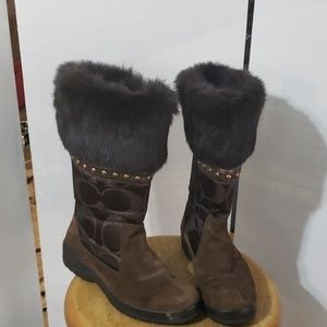 Coach ladies brown Lesly boots